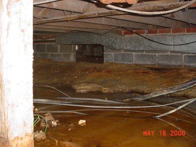 Water in Crawl Space & Crawl Space Water Problems